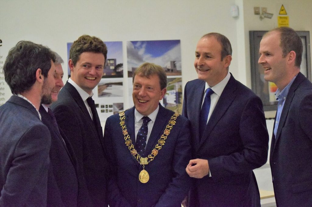 Micheal Martin TD with Paul McNally architect and CAA committee