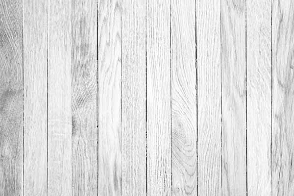 White wooden floor staining