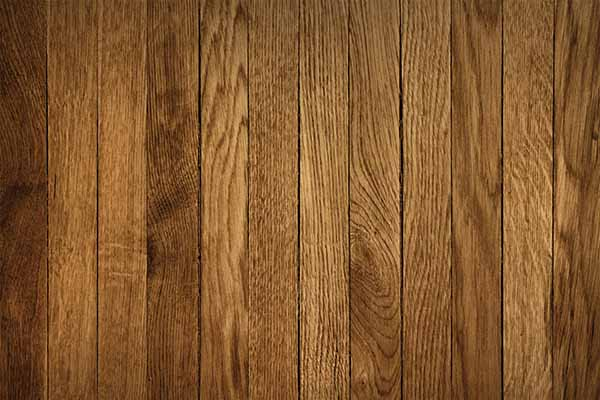 Oak wooden floor staining