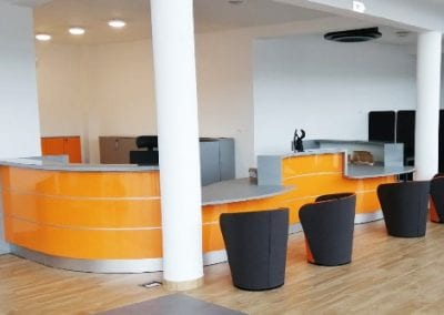 Reception Desk Nu Spin Chair